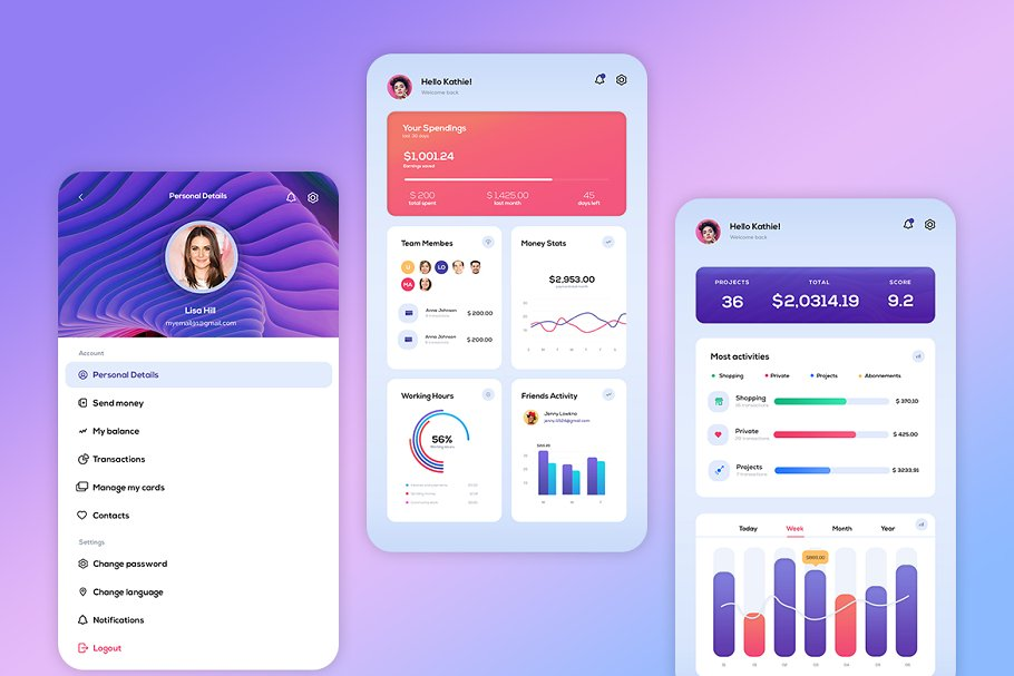 دانلود UI Kit لایه باز Dynamic Payments