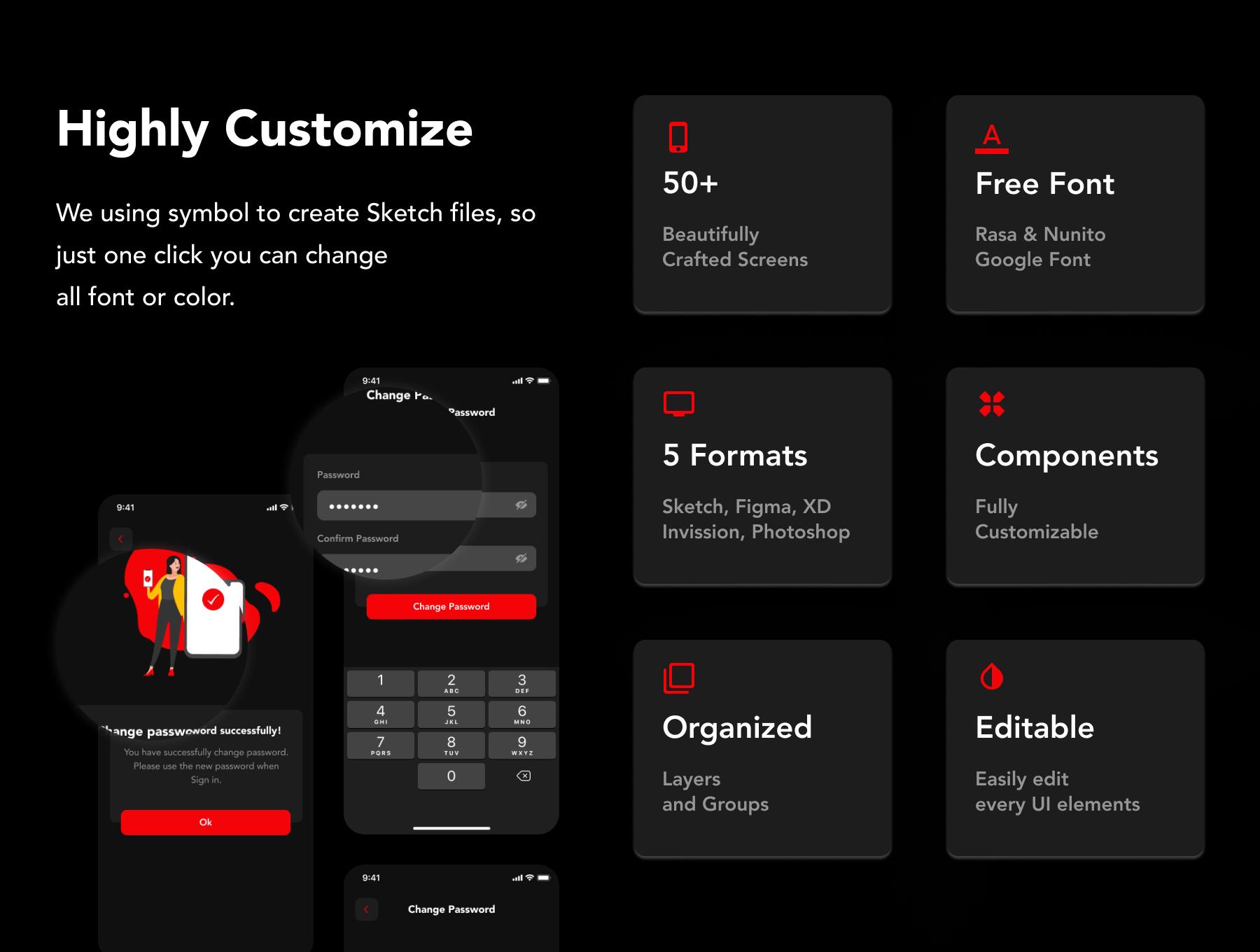 دانلود UI Kit اپلیکیشن موبایل فیلم و سریال WaFilm
