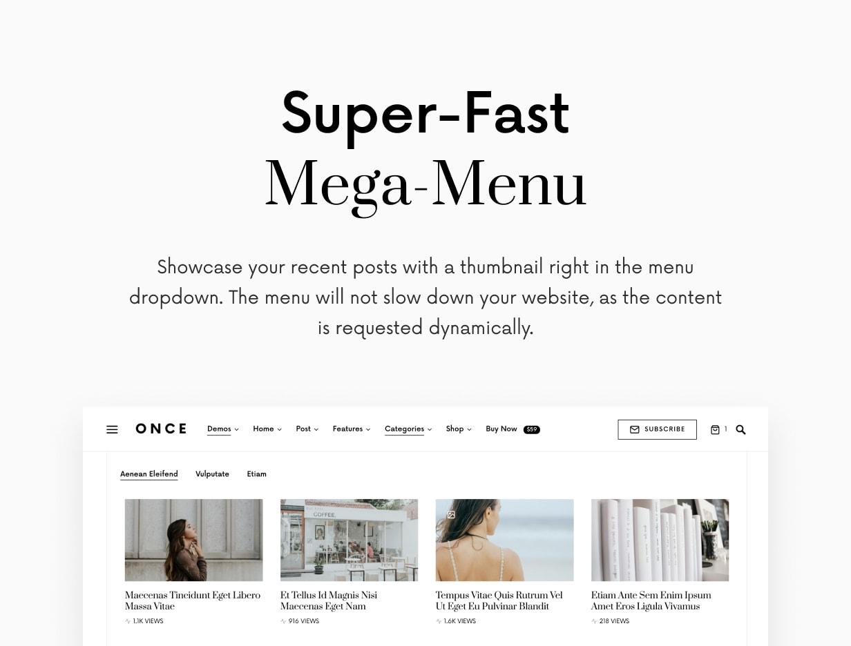 Once - Clean & Elegant WordPress Blog Theme - 14
