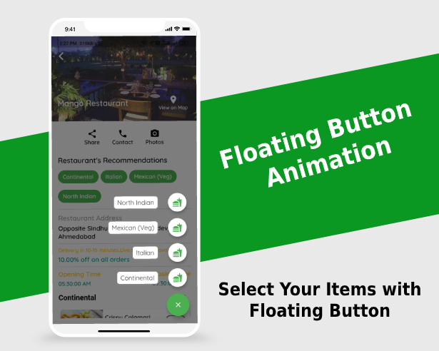 Floating Button Animations