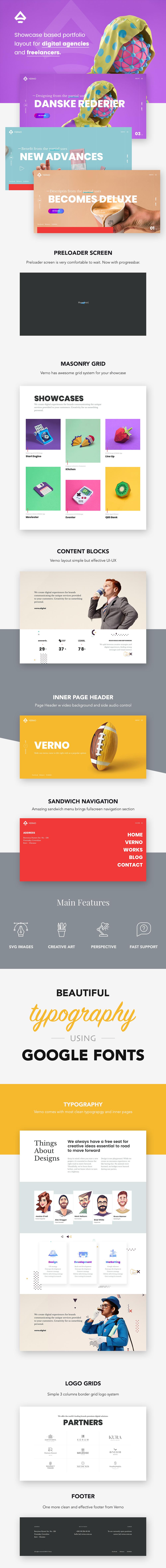 Verno | Creative Showcases for Agencies - 1