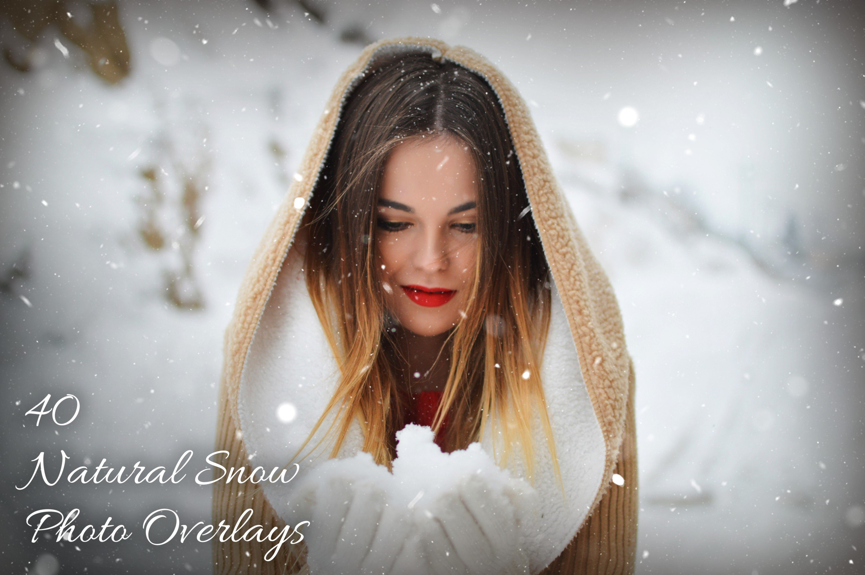 دانلود اکشن فتوشاپ 40 Natural Snow Photo Overlays