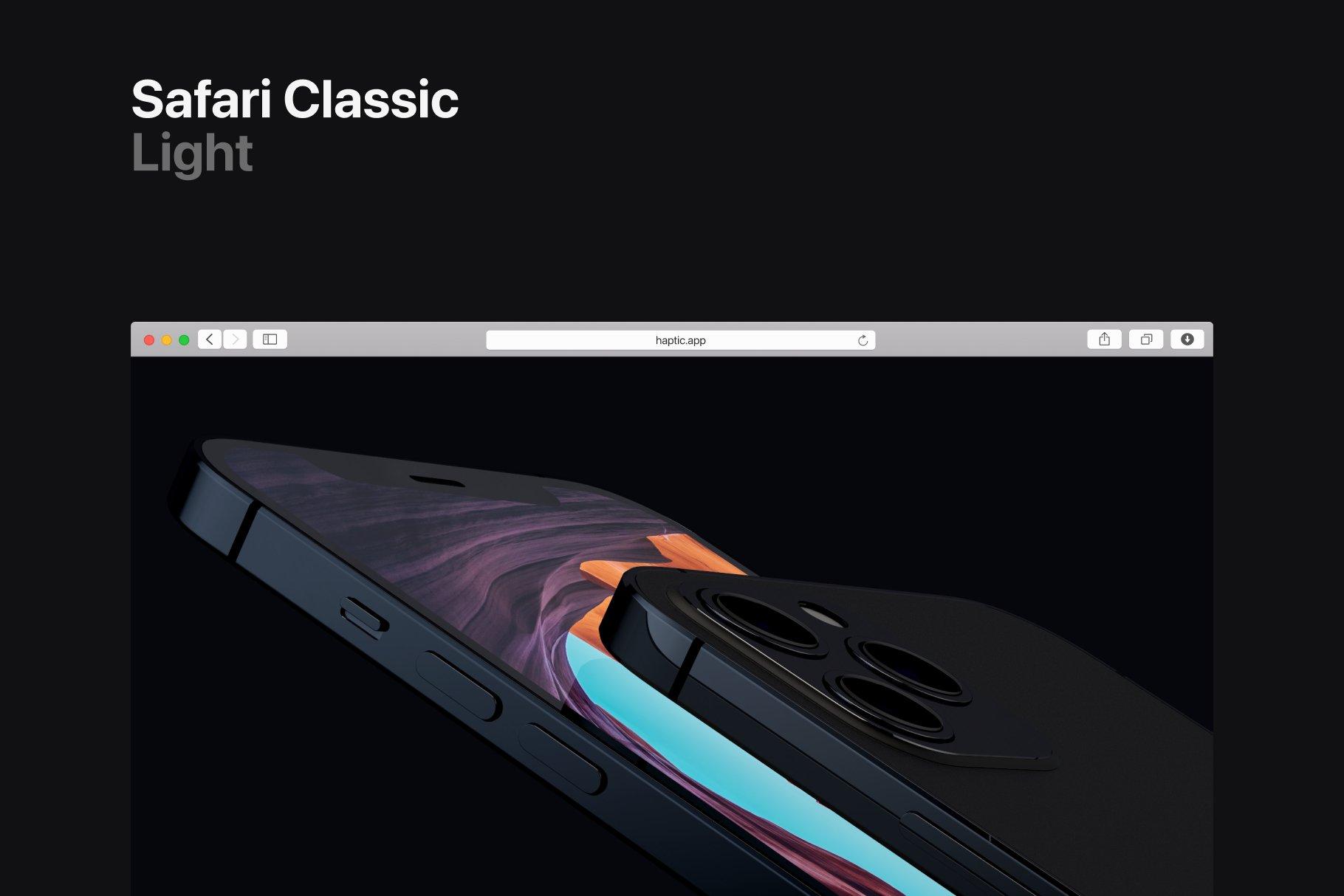 دانلود موکاپ لایه باز Browser Frames