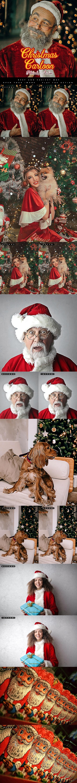 دانلود اکشن فتوشاپ Christmas Cartoon