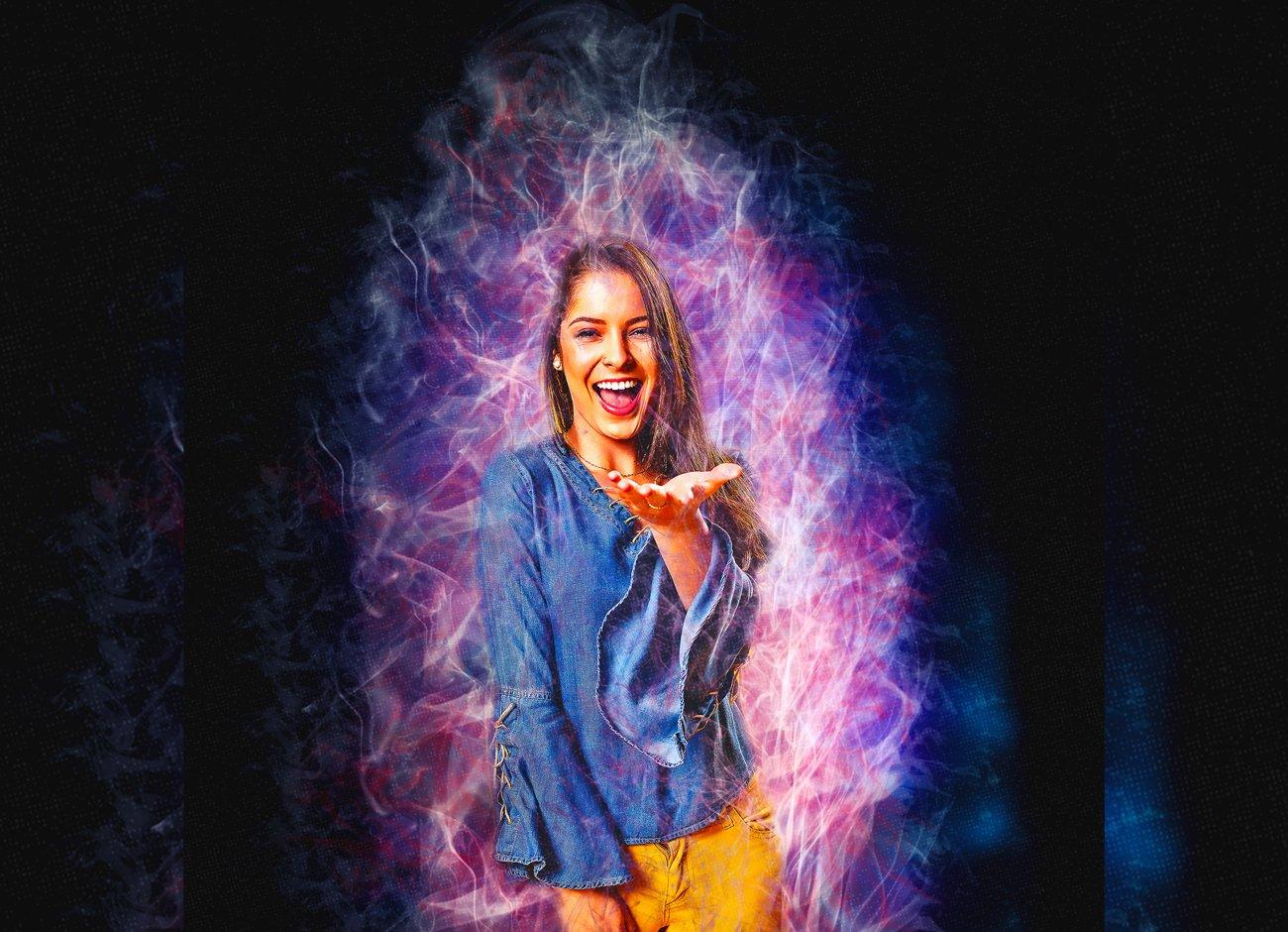 دانلود اکشن فتوشاپ Color Smoke Effect