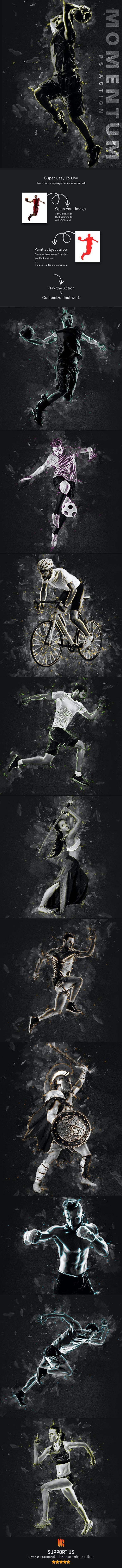 Momentum Photoshop Action - دانلود اکشن فتوشاپ Momentum
