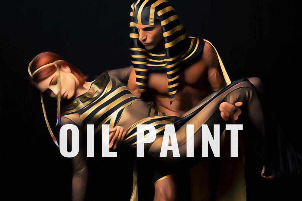 دانلود فایل لایه باز Oil Painting Photo Effect