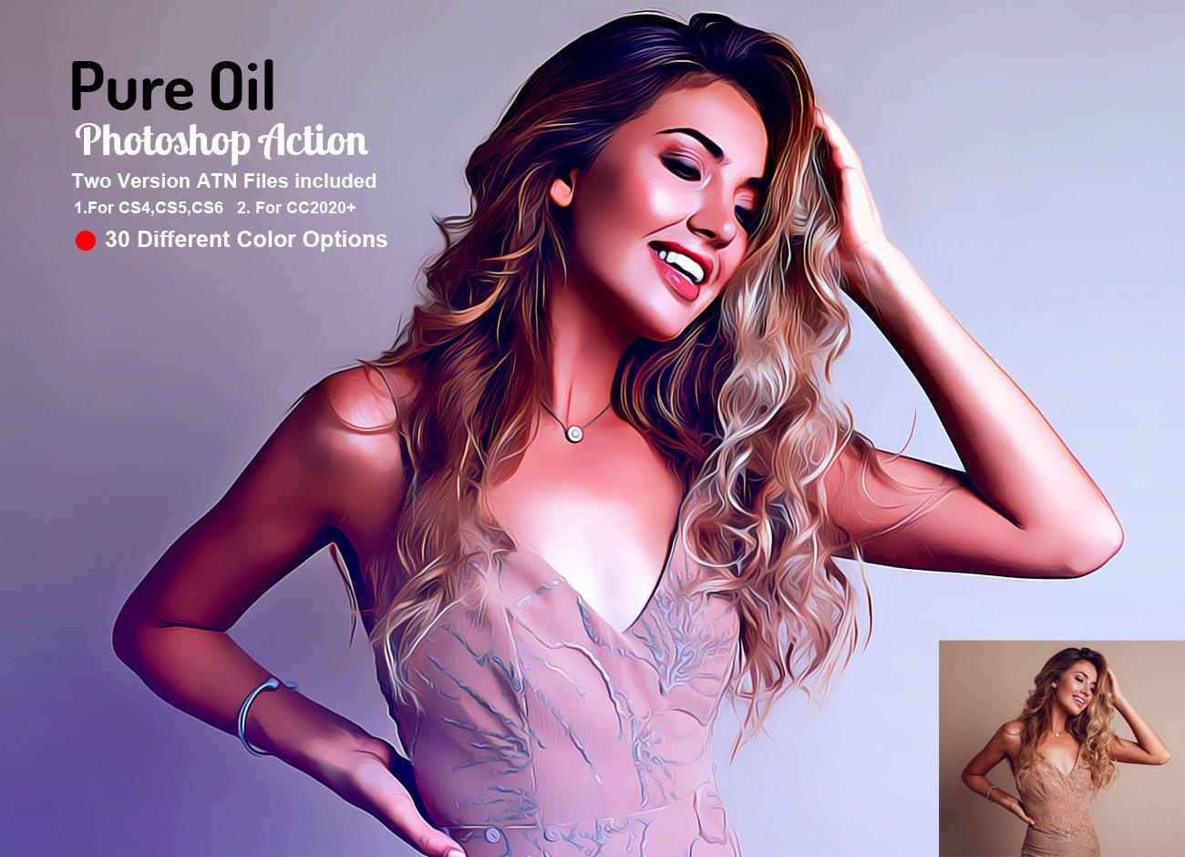 اکشن فتوشاپ Pure Oil
