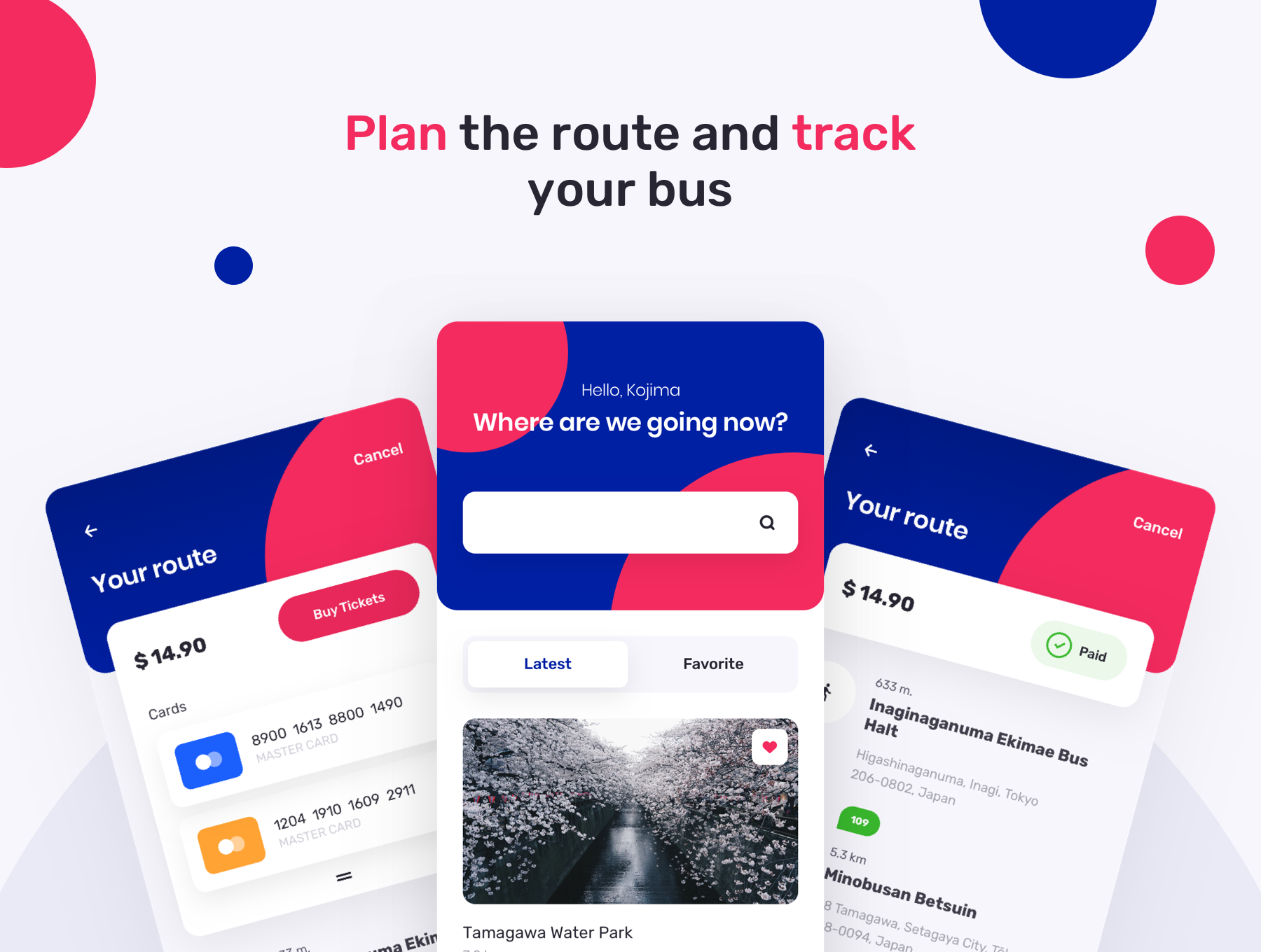 TBusBuy Public Transport App 3 - دانلود UI Kit اپلیکیشن موبایل TBusBuy