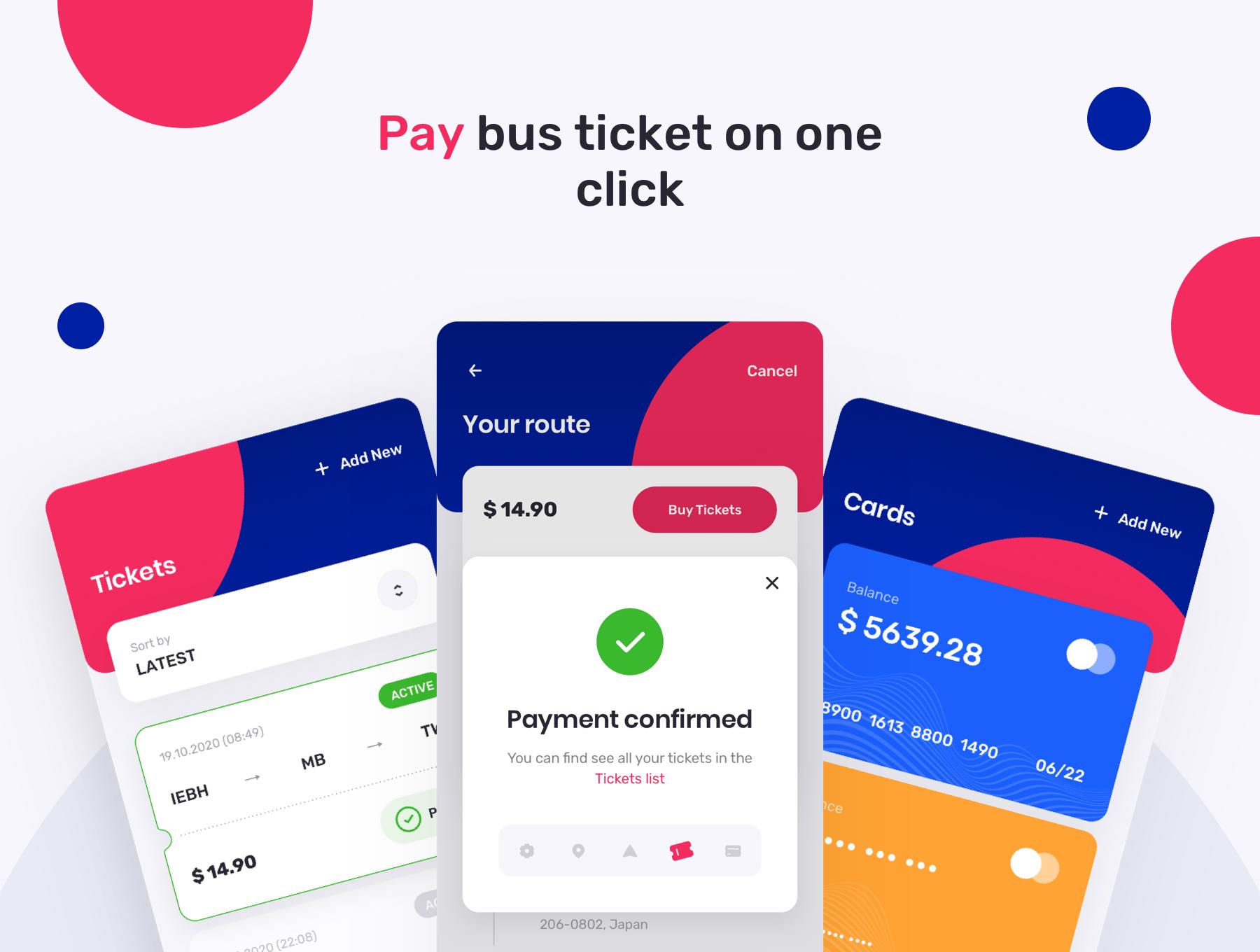TBusBuy Public Transport App 4 - دانلود UI Kit اپلیکیشن موبایل TBusBuy