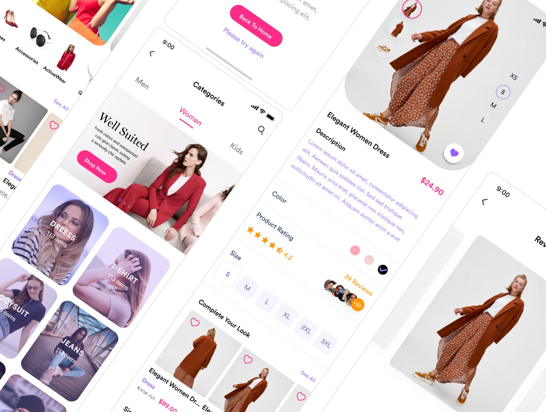 دانلود UI Kit اپلیکیشن موبایل فروشگاهی Zaara