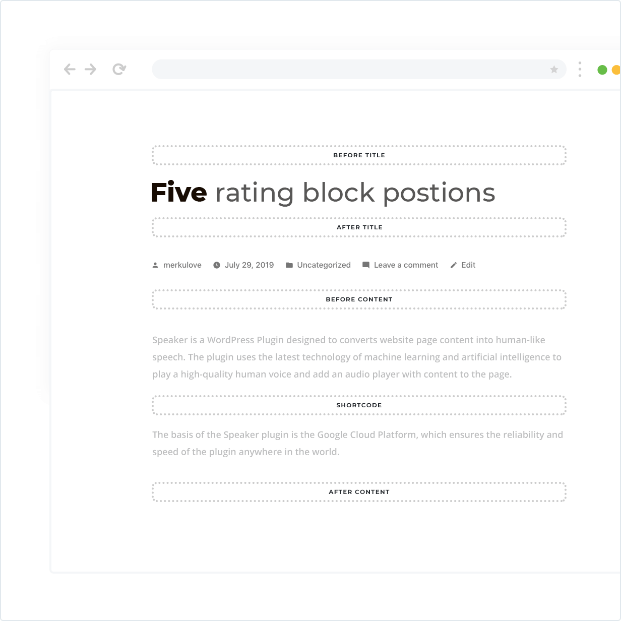 5 rating block positions