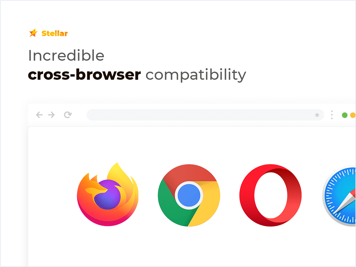 Incredible cross-browser compatibility