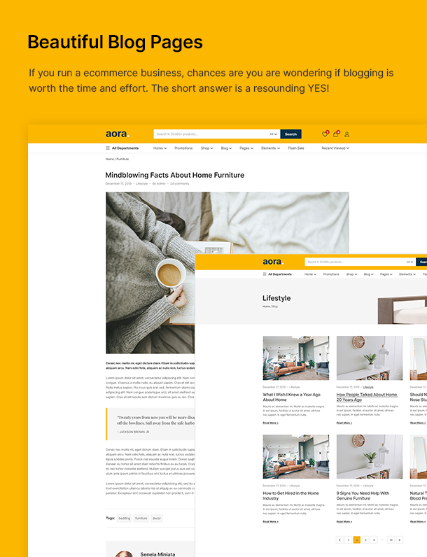 Aora - Home & Lifestyle Elementor WooCommerce Theme - 18