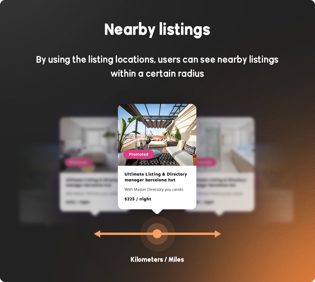 BRIKK- listing and directory WordPress theme - nearby listings