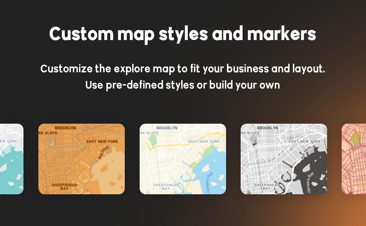 BRIKK- listing and directory WordPress theme - map styles