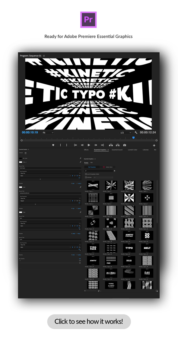 Kinetic Typo Pack - 149