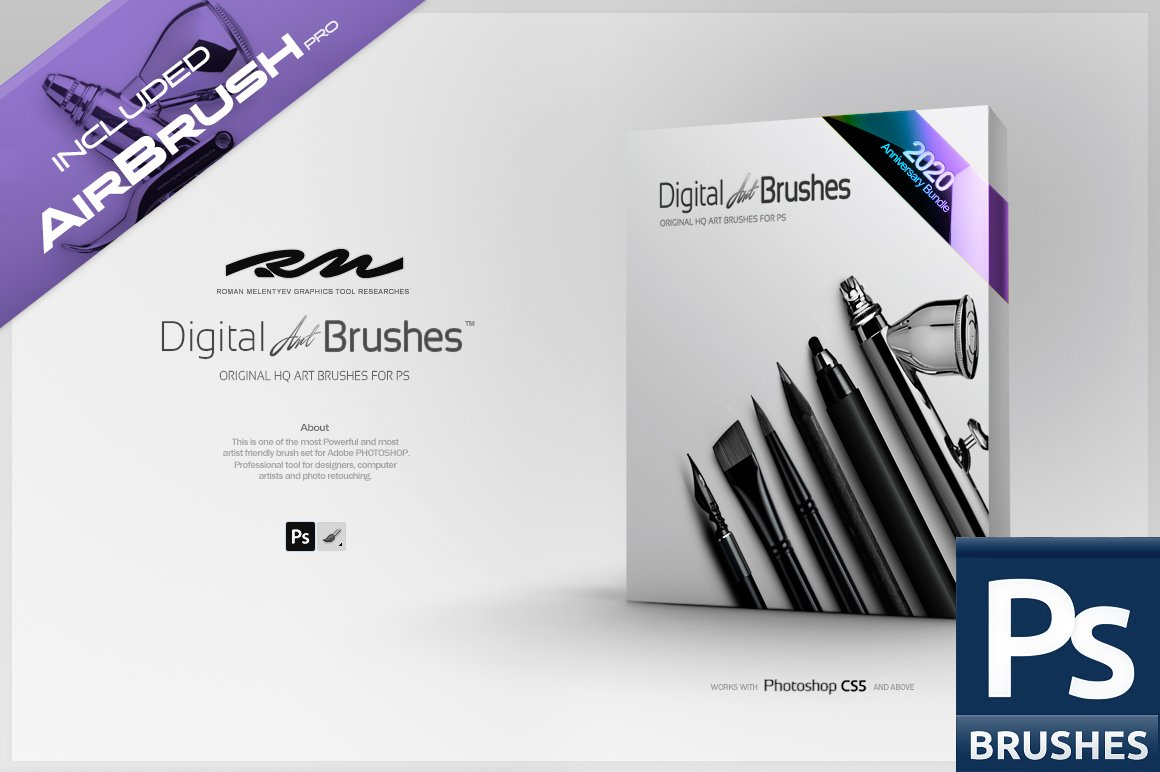 دانلود مجموعه براش و ابزارهای بی نظیر RM Digital Art Brushes