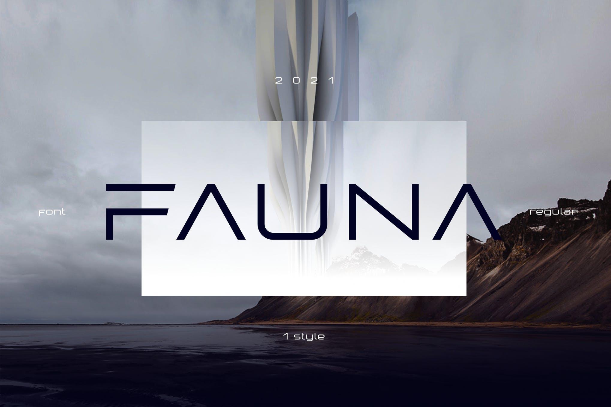 دانلود فونت انگلیسی Fauna