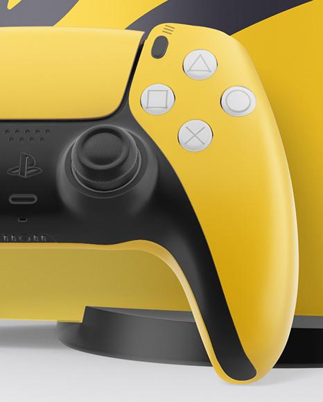 Playstation 5 with DualShock Mockup 3 - دانلود موکاپ لایه باز Playstation 5 with DualShock Mockup
