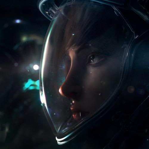 دانلود والپیپر زنده Space Girl