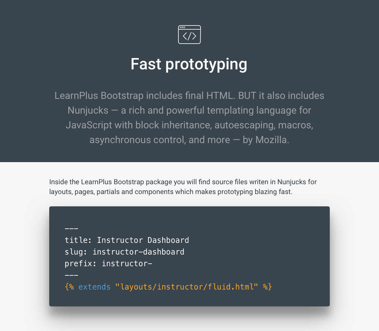 LearnPlus Bootstrap - LMS Dashboard Template - provides fast prototyping tools