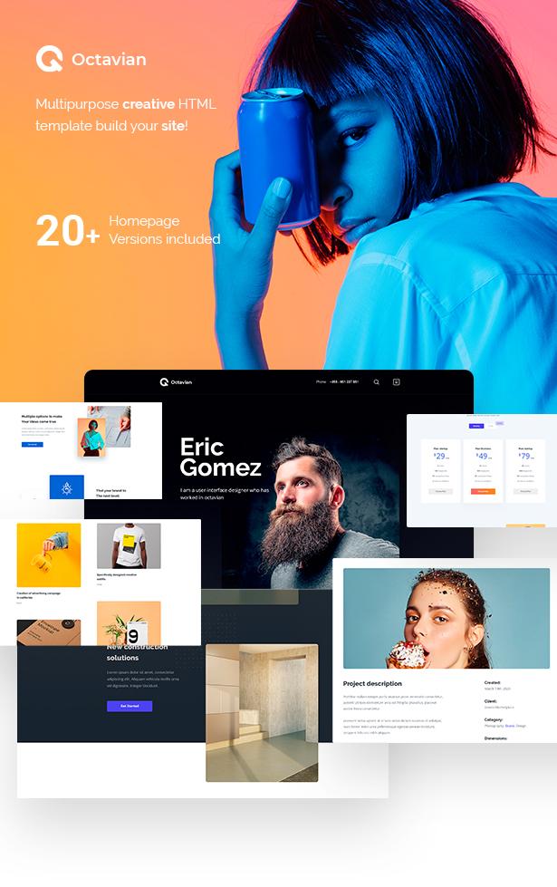 Octavian - Multipurpose Creative HTML5 Template - 1