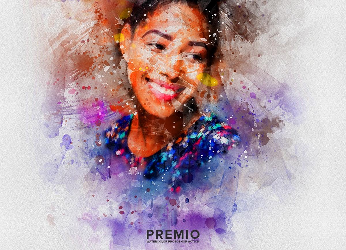 02 preview202 - دانلود اکشن فتوشاپ Premio Watercolor