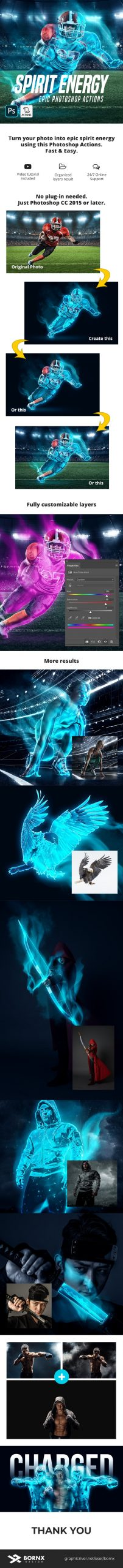 دانلود اکشن فتوشاپ Spirit Energy
