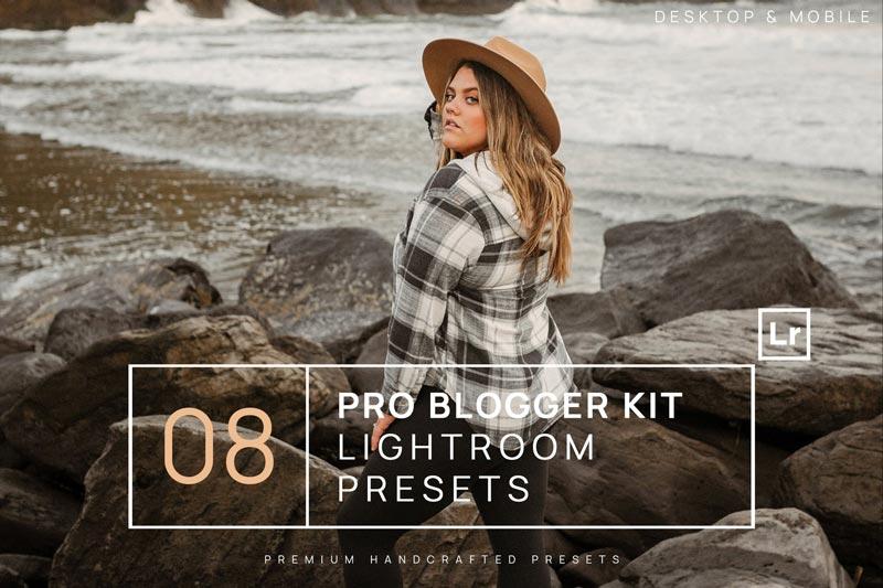 8 Pro Blogger Kit Lightroom Presets Mobile - دانلود پریست لایت روم 8 Pro Blogger Kit