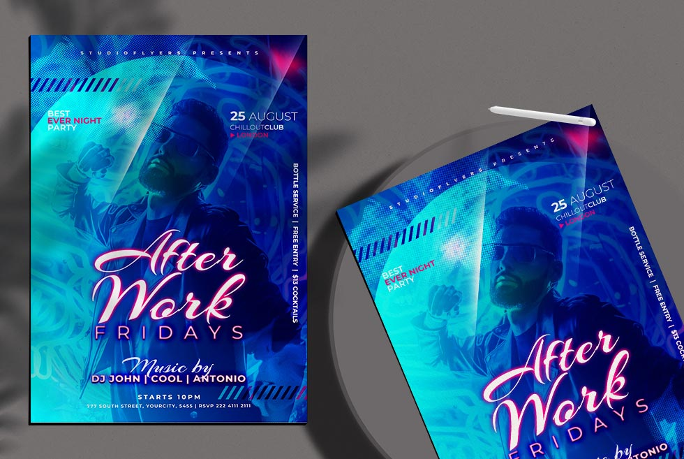 After Work Premium flyer psd template - دانلود فلایر لایه باز After Work