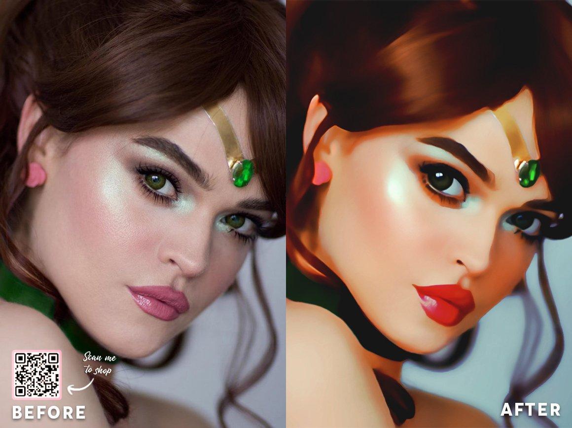 Cartoon Portrait Painting Effect 3 - دانلود اکشن فتوشاپ Cartoon Portrait Painting Effect