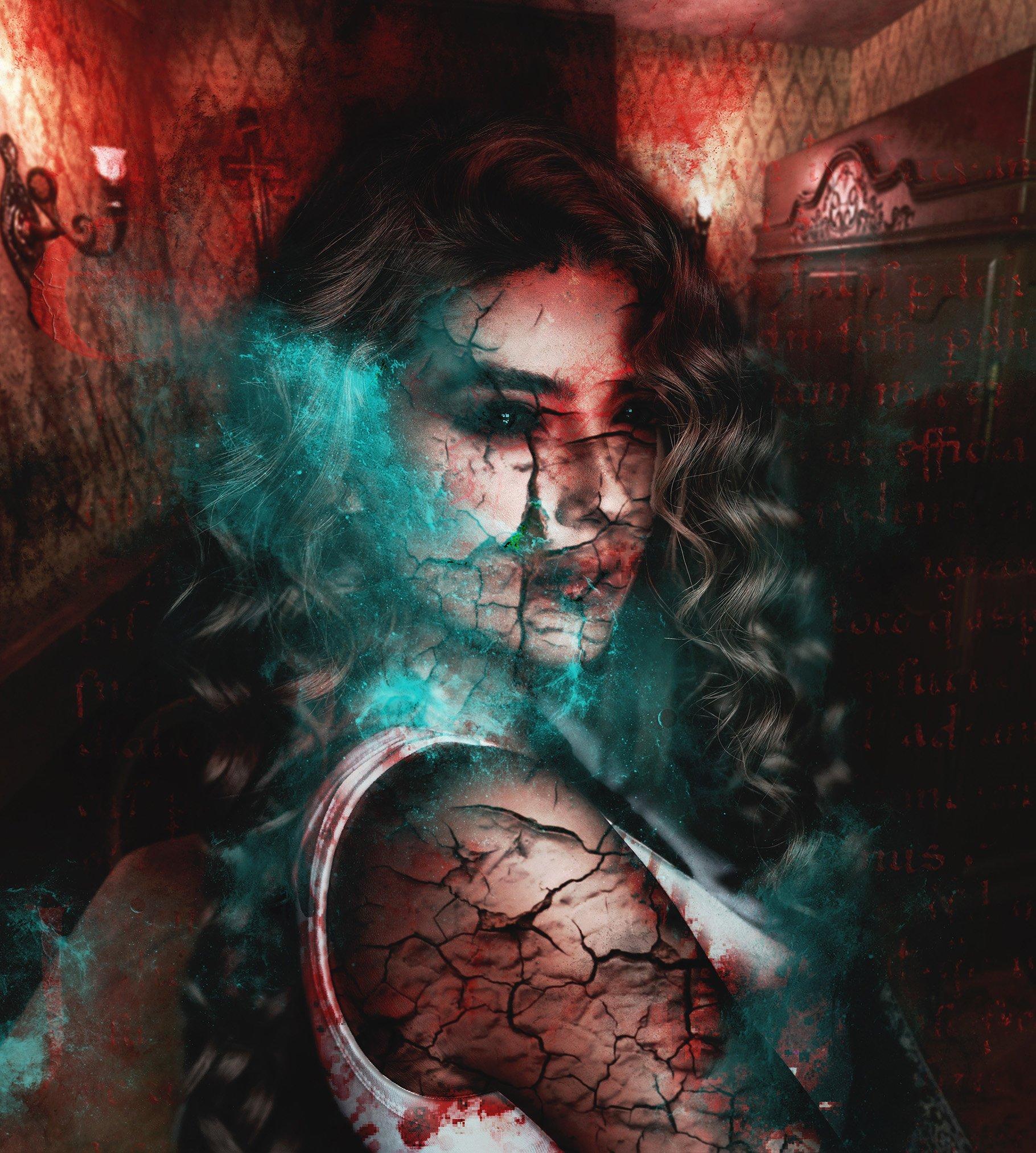 Exorcism Photoshop Action 1 - دانلود اکشن فتوشاپ جنگیری Exorcism