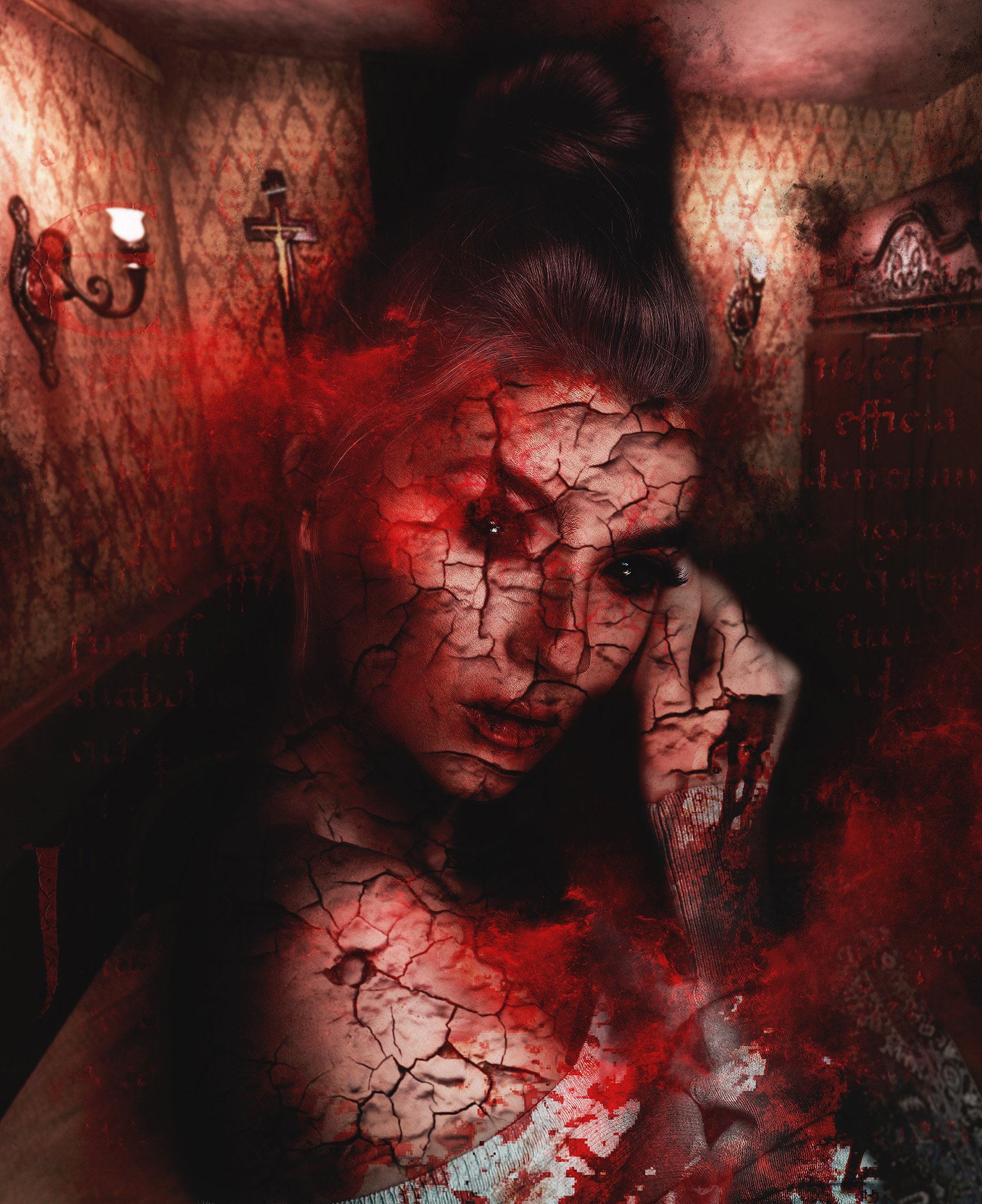 Exorcism Photoshop Action 2 - دانلود اکشن فتوشاپ جنگیری Exorcism