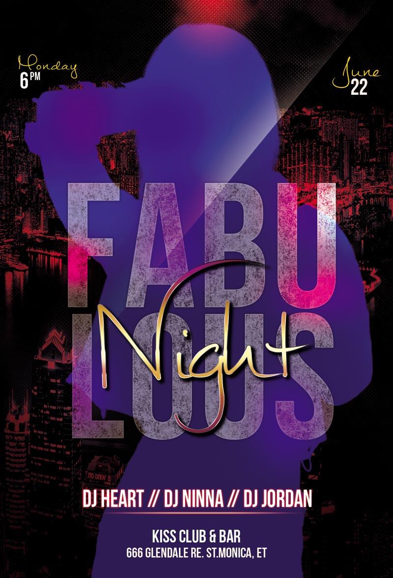 Fabulous Night - دانلود فلایر لایه باز Fabulous Night