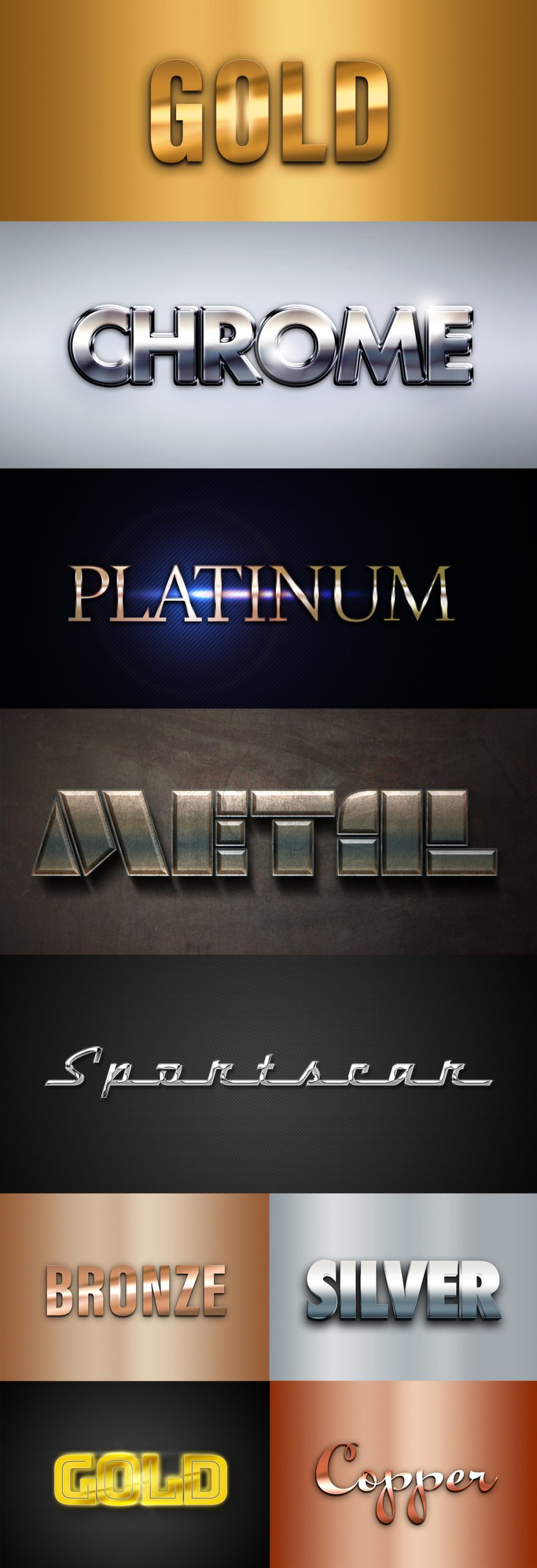 Metal Text Effects Mockup Collection scaled - دانلود موکاپ و استایل لایه باز Metal Text Effects