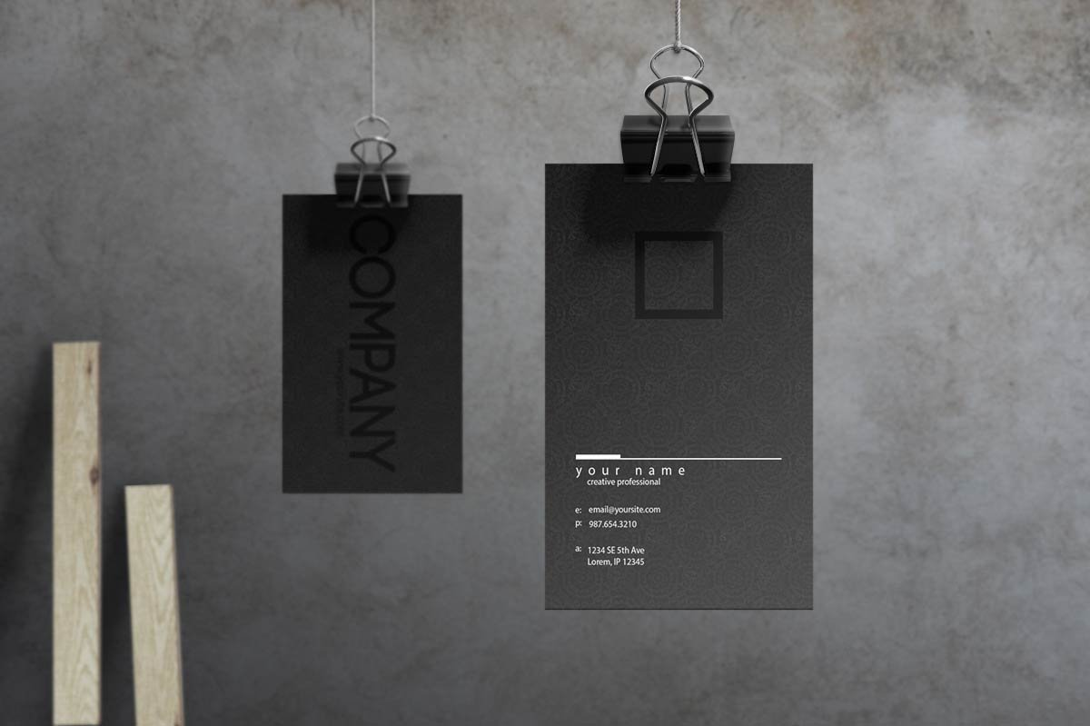 noir business card template 1  - دانلود کارت ویزیت لایه باز و آماده Noir