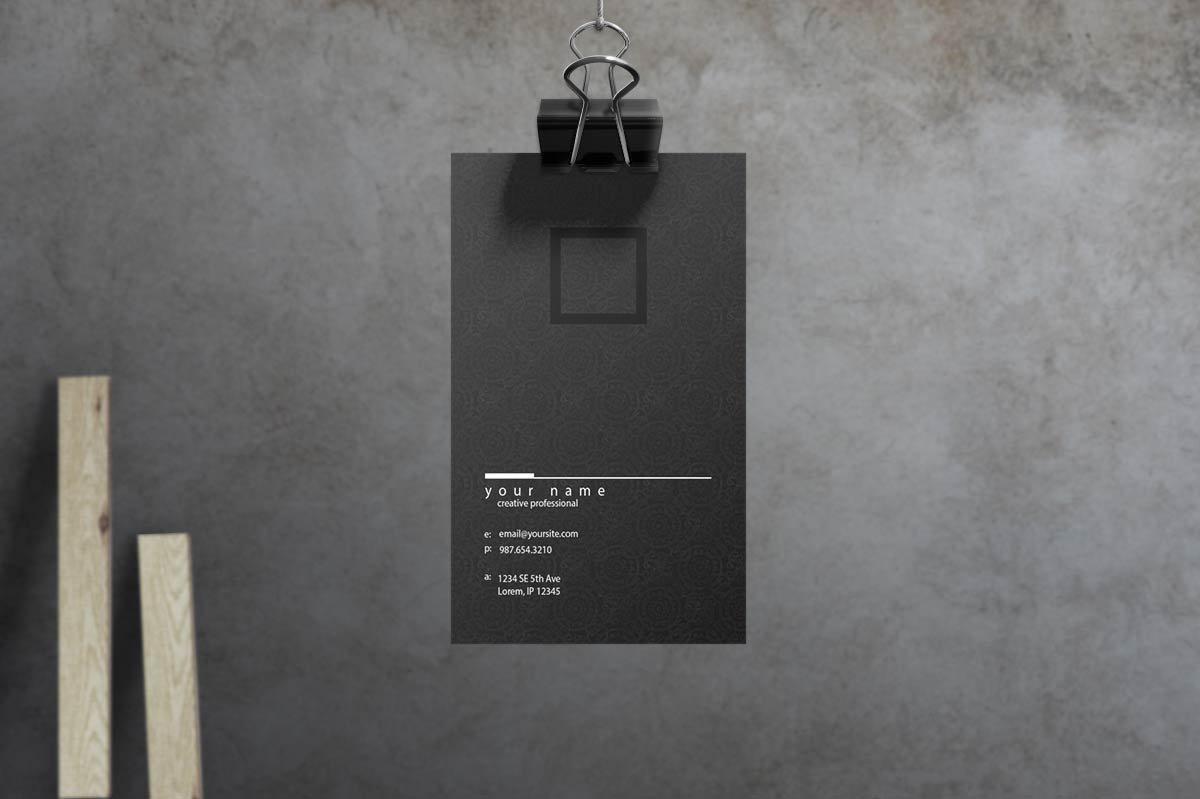 دانلود کارت ویزیت لایه باز Noir