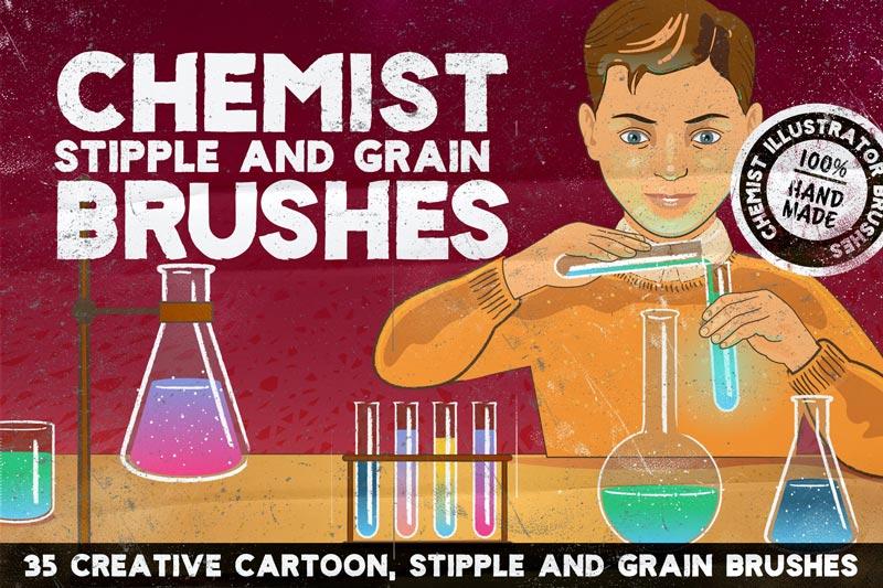 دانلود مجموعه براش خلاقانه CHEMIST برای Illustrator