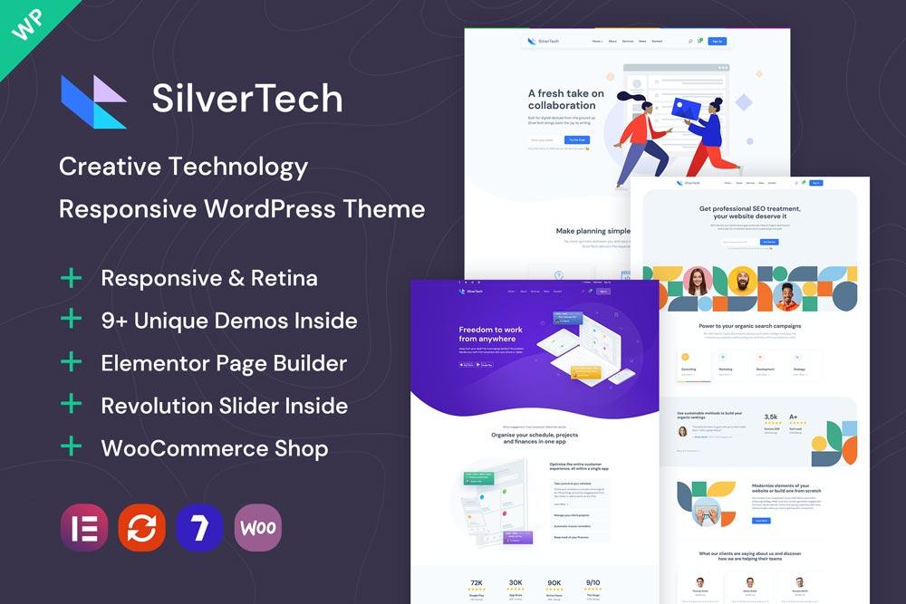 دانلود قالب اورجینال وردپرس Silvertech - پوسته خلاقانه و مدرن وردپرس