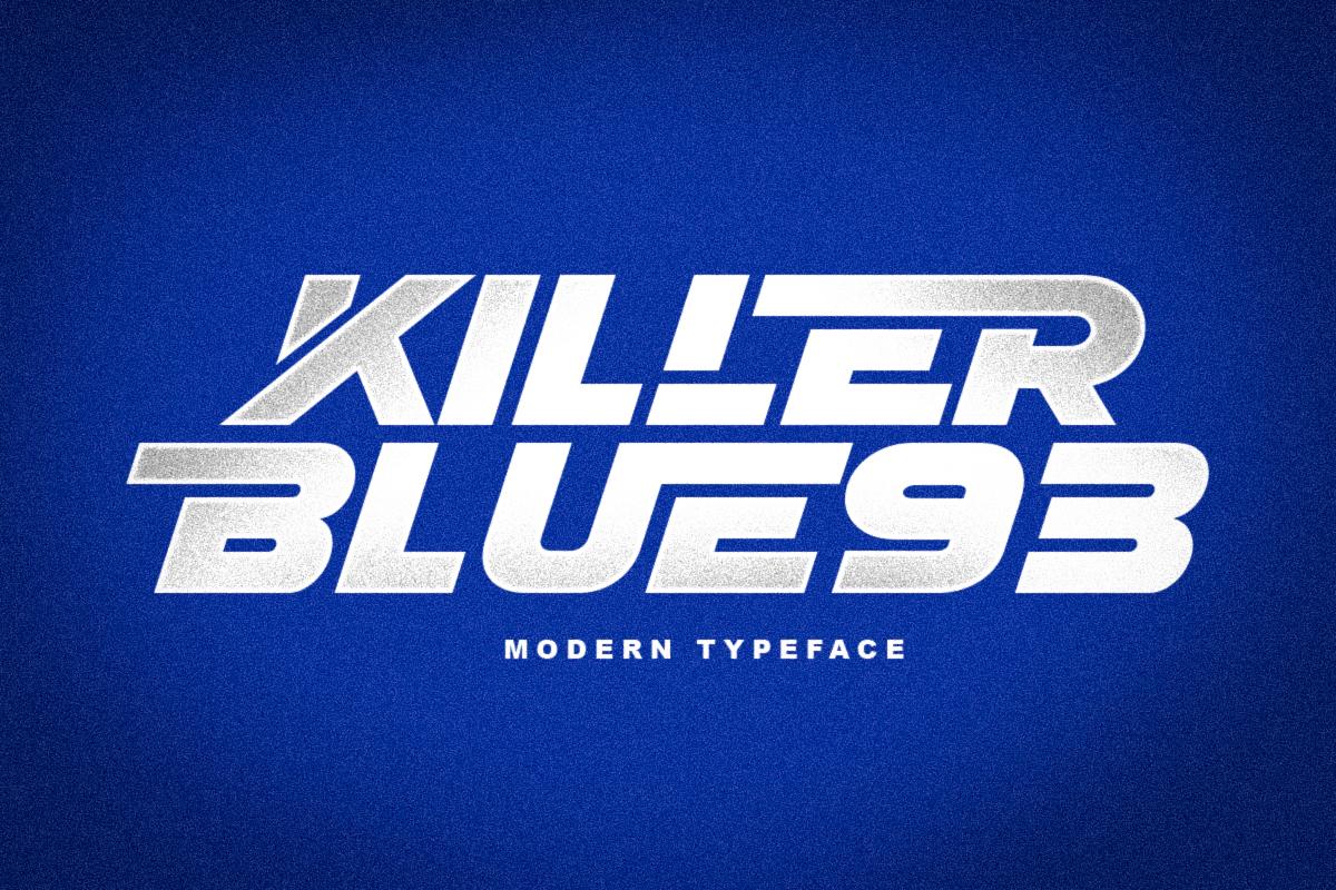 KILLER BLUE93 1 - دانلود فونت انگلیسی KILLER BLUE93 + نسخه وب (فونت وب)