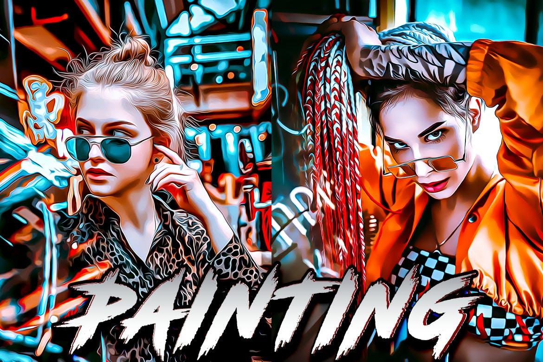 Painting Photoshop Aqction - دانلود اکشن فتوشاپ Painting - نسخه اورجینال محصول