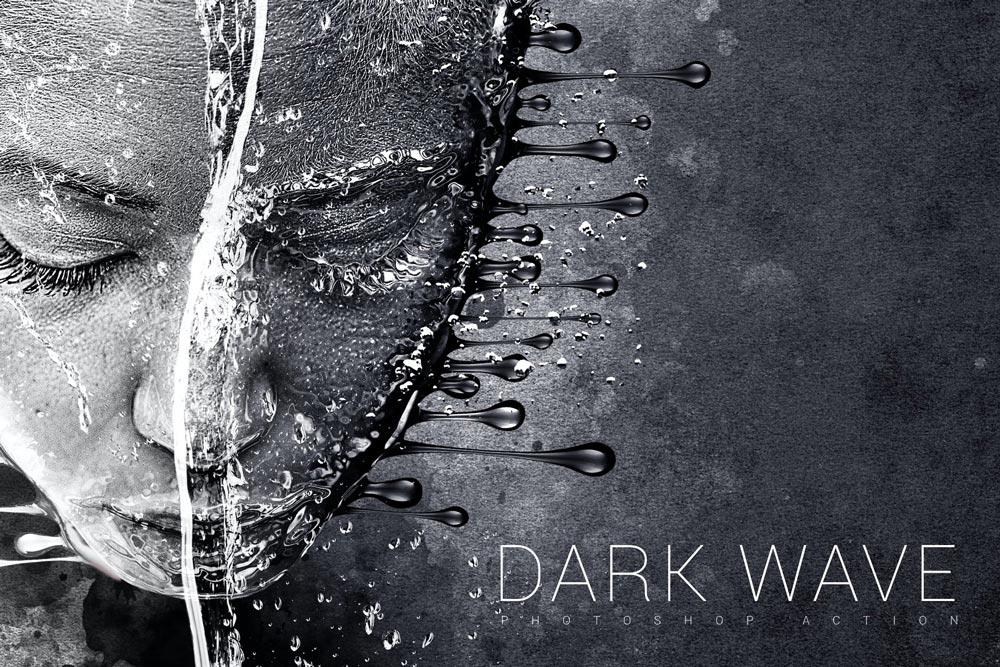 Dark Wave Photoshop Action - دانلود اکشن فتوشاپ Dark Wave - نسخه اورجینال محصول